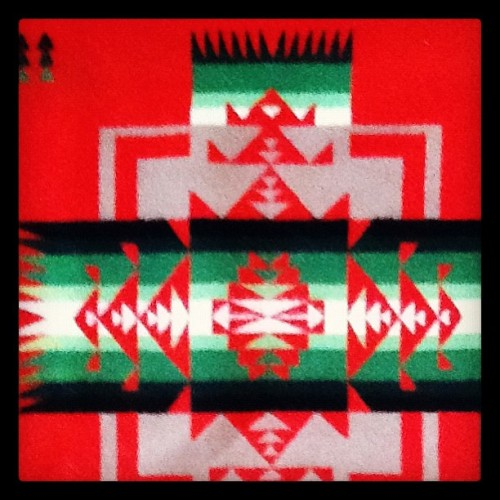 Pendleton blanket detail - spotted at a friend's house in Connecticut - #TheColors #TheShapes #Pendleton #blanket #geometricinspiration  #CT #throw #native #tribal  #whatinspiresme  (Taken with Instagram)