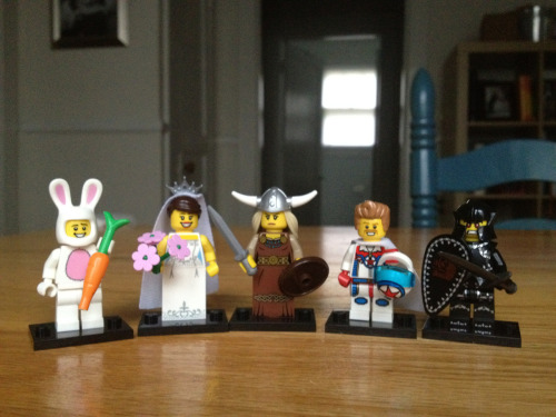 Beth bought me 5 Minifigures yesterday and they were all unique! I'm still hoping to get the Computer Programmer.