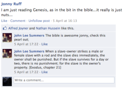 Bible Banter = Vital Research (taken from the 'Genesis' Facebook group)