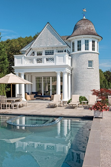 georgianadesign:  New England traditional with some flare. Catalano Architects. C.J. Riley Builder, Inc.