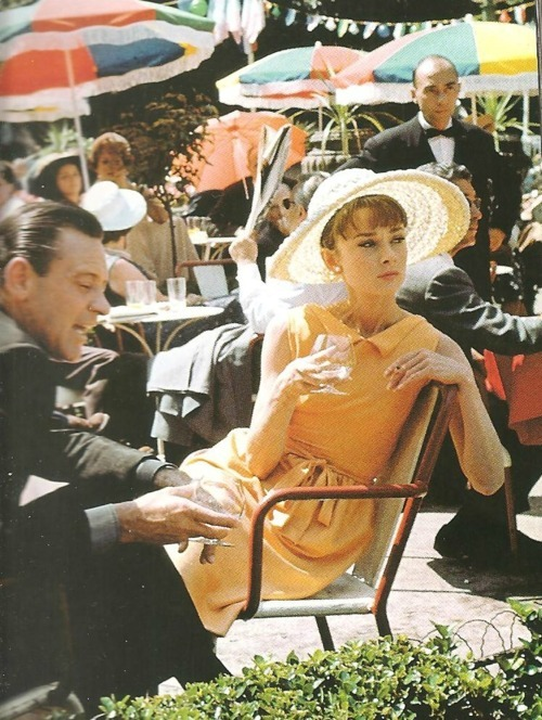 Audrey Hepburn in Paris When It Sizzles (1964).