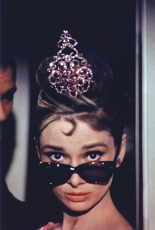 Audrey Hepburn during the filming of Breakfast at Tiffany's, 1960.
