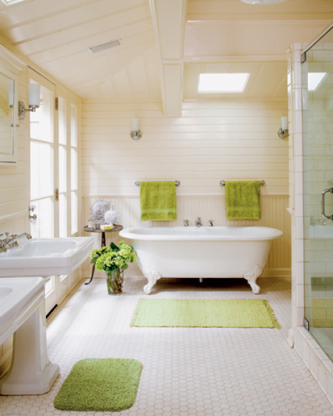 cream chic bathroom