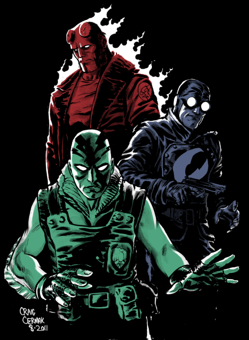 lulubonanza:  Hellboy, Lobster Johnson, Abe by *craigcermak
