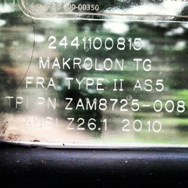 flashforcedoff:  #amtrak #window #train #text #numbers #detail #technical #specification #corner #macro (Taken with Instagram)