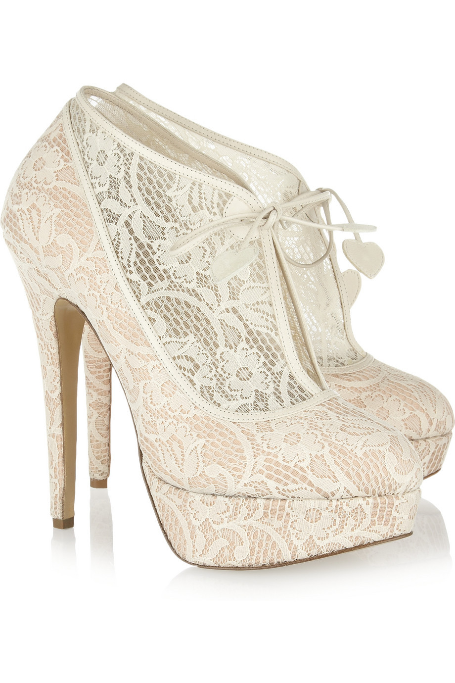 How about wedding boots rather than wedding shoes? These Charlotte Olympia beauties would work rather well! Photo Credit: Net A Porter