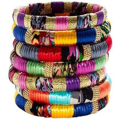 Colorful, fabric wrapped bangles (LOVE these)… $14 Madewell Madewell bracelet