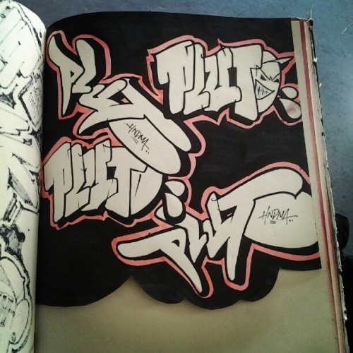 PLUTO! #pluto #blaqbook #blackbook #hnd #graffiti #graffporn  (Taken with Instagram)