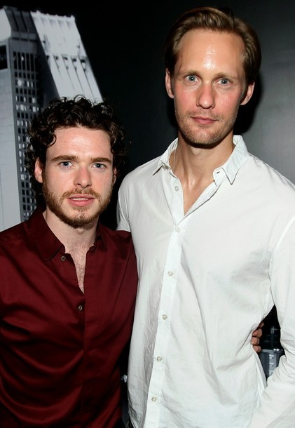 asloveas:  Richard Madden and Alexander Skarsgard attend Zachary Levi's NERD Party at NERD HQ on Friday July 13, 2012 in San Diego