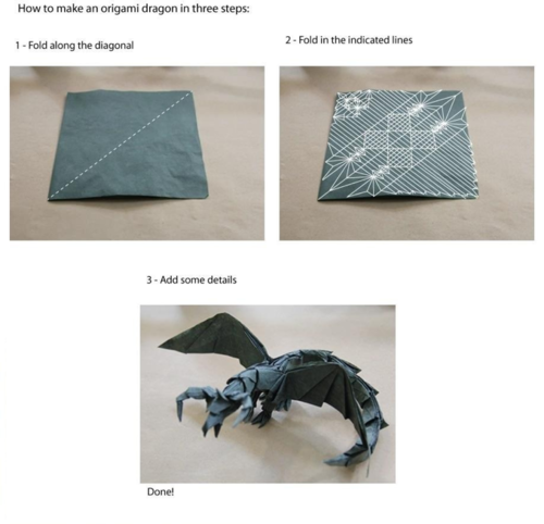 niknak79:  How to make an origami dragon