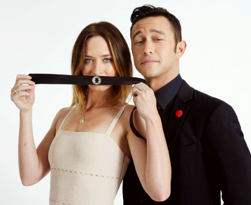 jglnews:  Emily and Joe in the EW photo booth at SDCC