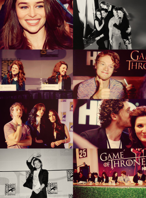 Alfie Allen, Emilia Clarke, Michelle Fairley, Rose Leslie and Richard Madden - San Diego Comic-Con 2012 (x)