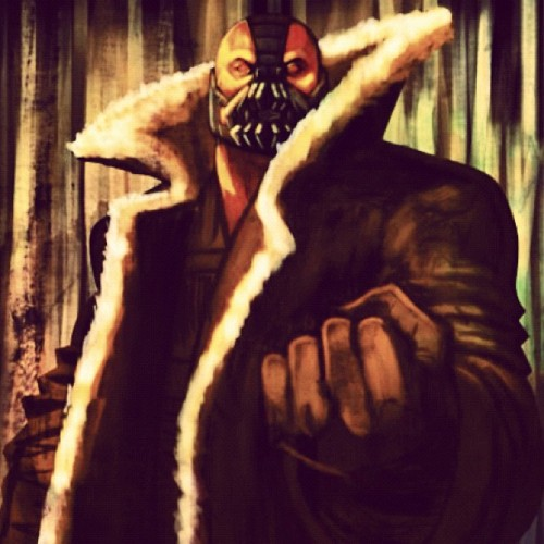 #stoked #bane #batman #darkknightrises #sketch #painting #photoshop #art #fanart #calvinclyke  (Taken with Instagram)