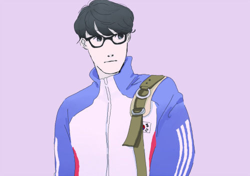 my favorite korean athlete :*  and my coloring keep going to nowhere. /don't zoom it please it cracks >_>