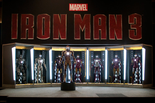 Check out the new armor from Iron Man 3, on stage at Marvel's booth at Comic-Con International 2012. Photo by Judith Stephens.