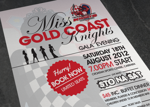 Poster: Miss Gold Coast Knights 2012