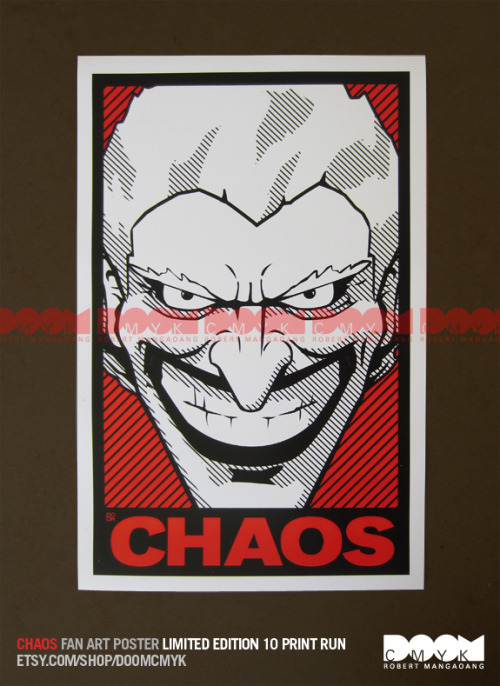 """CHAOS"" Limited Edition fan art poster. Only 10 prints. http://www.etsy.com/shop/DoomCMYK"