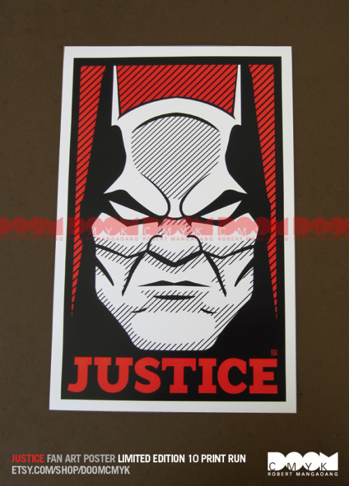 """Justice"" Limited Edition fan art poster. 10 prints Only. http://www.etsy.com/shop/DoomCMYK"