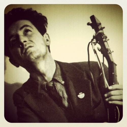 Happy 100th birthday to Woody Guthrie. Your visionary songs continue to inspire the strugglers, the dreamers, the oppressed, and the everyday people who crave liberty and seek peace and love. (Taken with Instagram)