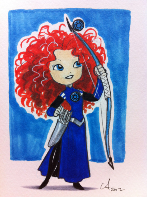 afewnovelideas:  amymebberson:  Blue Lantern Merida. Word gets around!  This I like.