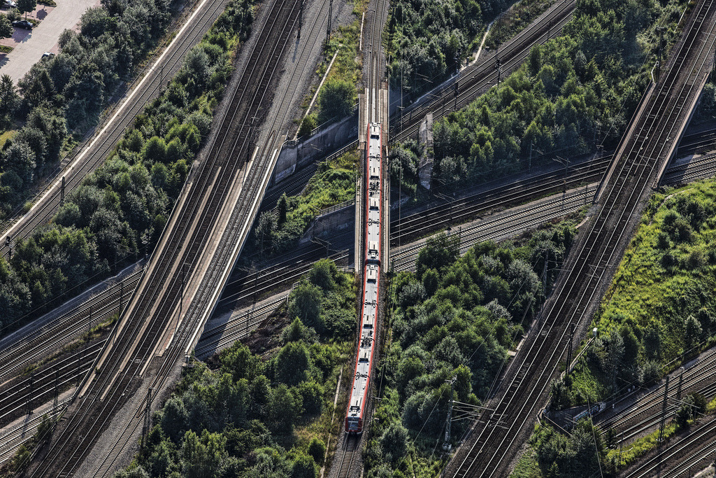 Rails Everywhere (by Aerial Photography)