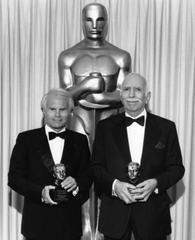"With legendary producer Dick Zanuck's sudden death yesterday at 77, Hollywood lost one of its last links between a big-time player of today with the earliest days of the business, writes Deadline's Awards Columnist Pete Hammond.  Zanuck's list of credits is eye-popping, starting with his eight-year stint (beginning at 28) trying to revive Fox after the ""Cleopatra"" debacle nearly killed it, through ""Jaws,"" ""MASH"" and ""Patton"" and concluding with the recently opened ""Dark Shadows,"" his sixth collaboration with Tim Burton. That career led to honors like the Thalberg award, which the motion picture academy gives to producers for extended achievement over their careers (Zanuck, on the left in this photo above with his long-time producing partner David Brown, showing their Thalbergs).  If you have the time, please read Pete's long appreciation of Zanuck, who managed to do great work and leave a lot of friends, both major challenges in Hollywood, particularly when done by the same person. Read more here: http://ow.ly/ceUle"