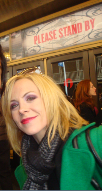 Mary Faber at Stage Door of American Idiot