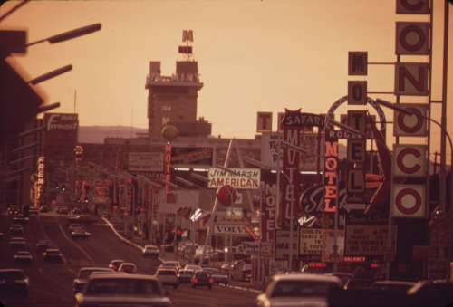 Las Vegas, c. 1972. by Charles O'Rear. (U.S. National Archives)