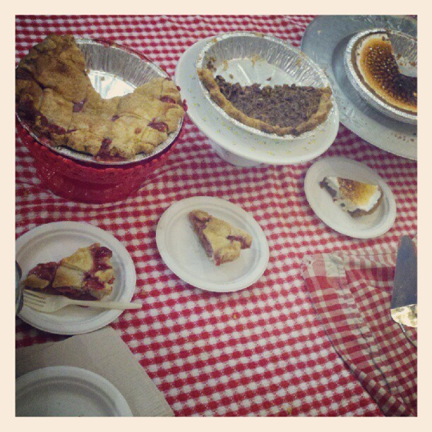 Pie in 2 boroughs! Come get some at #superdupermarket and/or @Smorgasburg!  (Taken with Instagram at Chelsea Market)