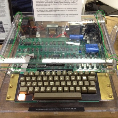 laughingsquid:  Apple-1 (1976) at HOPE 9 via MARCH (Mid-Atlantic Retro Computing Hobbyists)