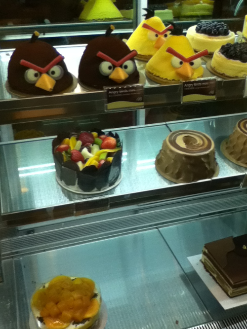 Guess what I found on my adventure to the east? Angry bird cakes!!! XP