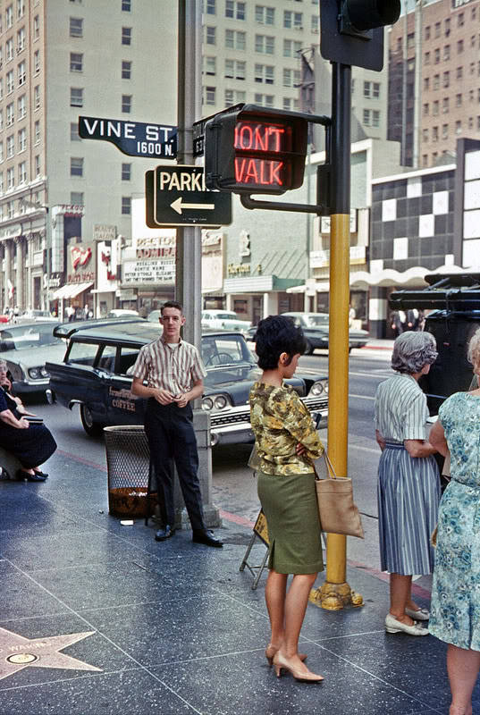 hollyhocksandtulips:  Vine Street, Hollywood, 1960s
