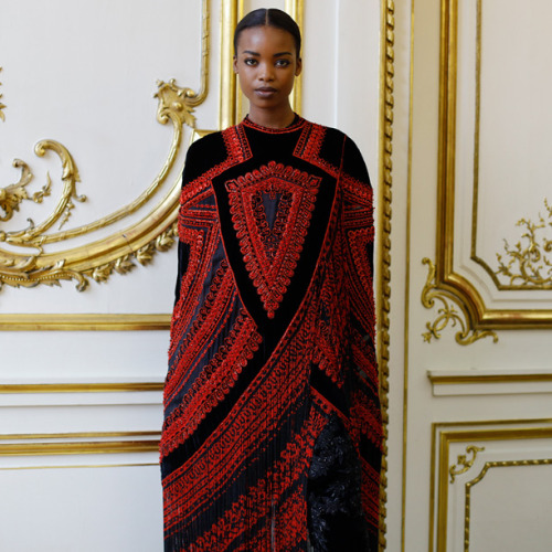 Maria Borges for Givenchy Haute Couture 2012/2013.