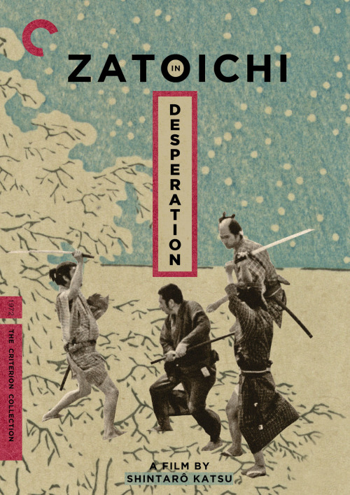 "Criterion Cover for Shintaro Katsu's ""Zatoichi in Desperation"" Zatoichi has a strong noble legacy in the heart of japanese cinema. I have been a loyal fan of the series for the better part of a decade. Not only has it changed the way I treat blind people; you never know if they are hiding a cane sword. But I feel the character of Zatoichi is one of the greatest to grace cinema ever.  Zatoichi in Desperation was directed by the man himself Shintaro Katsu, this is the 24th entry into the series and one of the last before the TV Show got started. I'd love to see the entire series get the criterion make over into a gigantic Blu-ray set with some decent extras, interviews and commentary tracks by some true Zatoichi fans. That won't happen any time soon, But for now here's a little cover design, I am hoping to work on some more covers down the line.  Long Live Zatoichi MM = Midnight Marauder Behance 