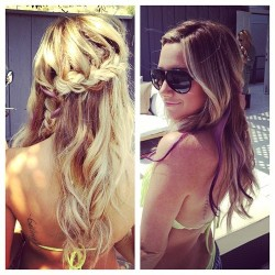 cute version of the side braid