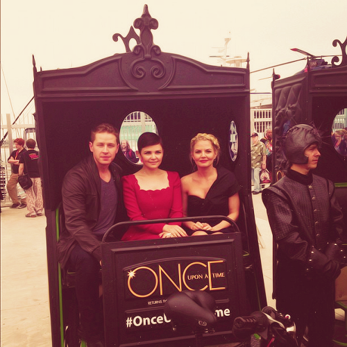 """Prince Charming, Snow and Emma take on Comic-Con #SDCC#OnceUponAT @ San Diego Comic-Con International 2012"" [x]"