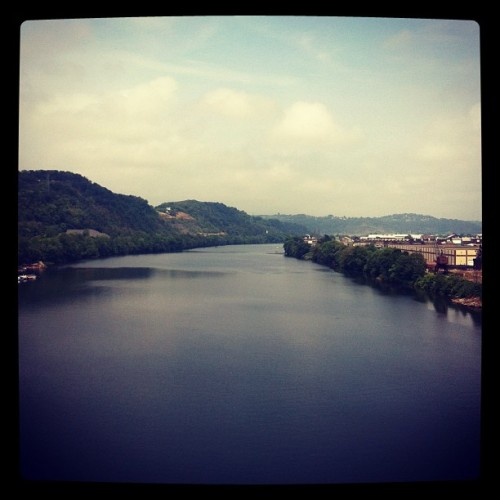 Kinda grey kinda nice #pittsburgh #river (Taken with Instagram)