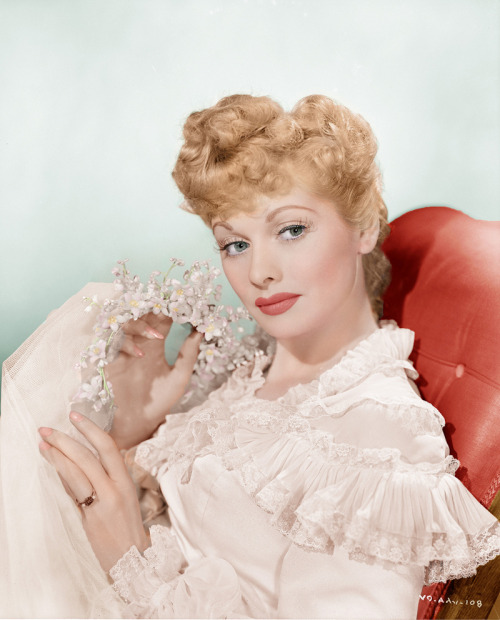 Lucille Ball beautifully colorized by klimbims on Flickr