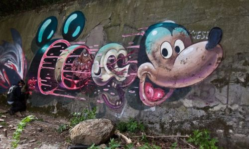 Mickey Mouse Street Art