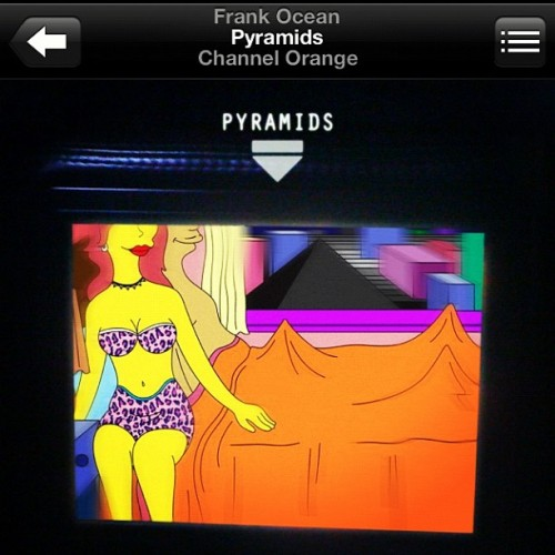 @frankoceanmusic jam of the month thanks Corey.  (Taken with Instagram)