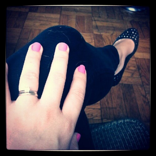 Barbie pink nails. (Taken with Instagram)