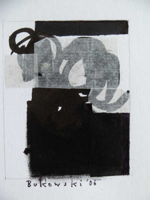 "dailyartjournal:  Ute Bukowski, ""Black Mini"", Acrylic on paper"