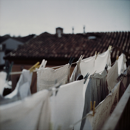I have simple dreams, one of them being able to hang laundry on the line outside.