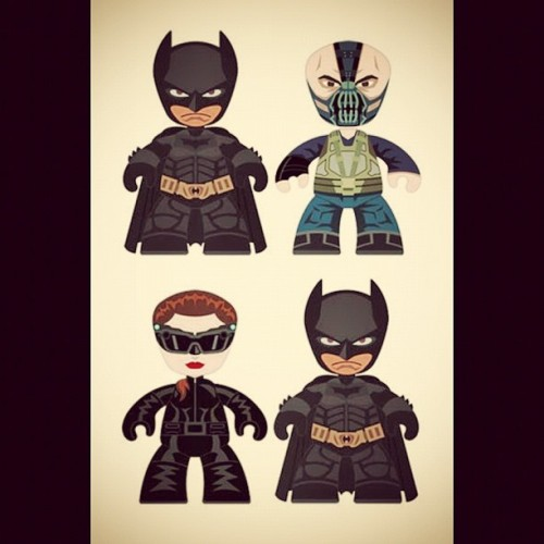 #DarkKnightRises #Batman #Catwoman #Bane #Toys #Cute $335 for the set! A steal! Hah. (Taken with Instagram)