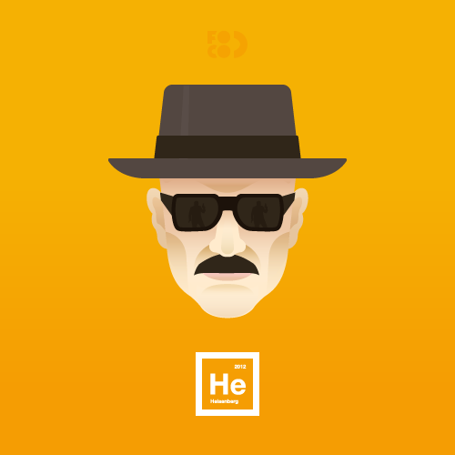 Heisenberg. Breaking Bad's Walter White illustrated by Henrique Foca :: via focadesign