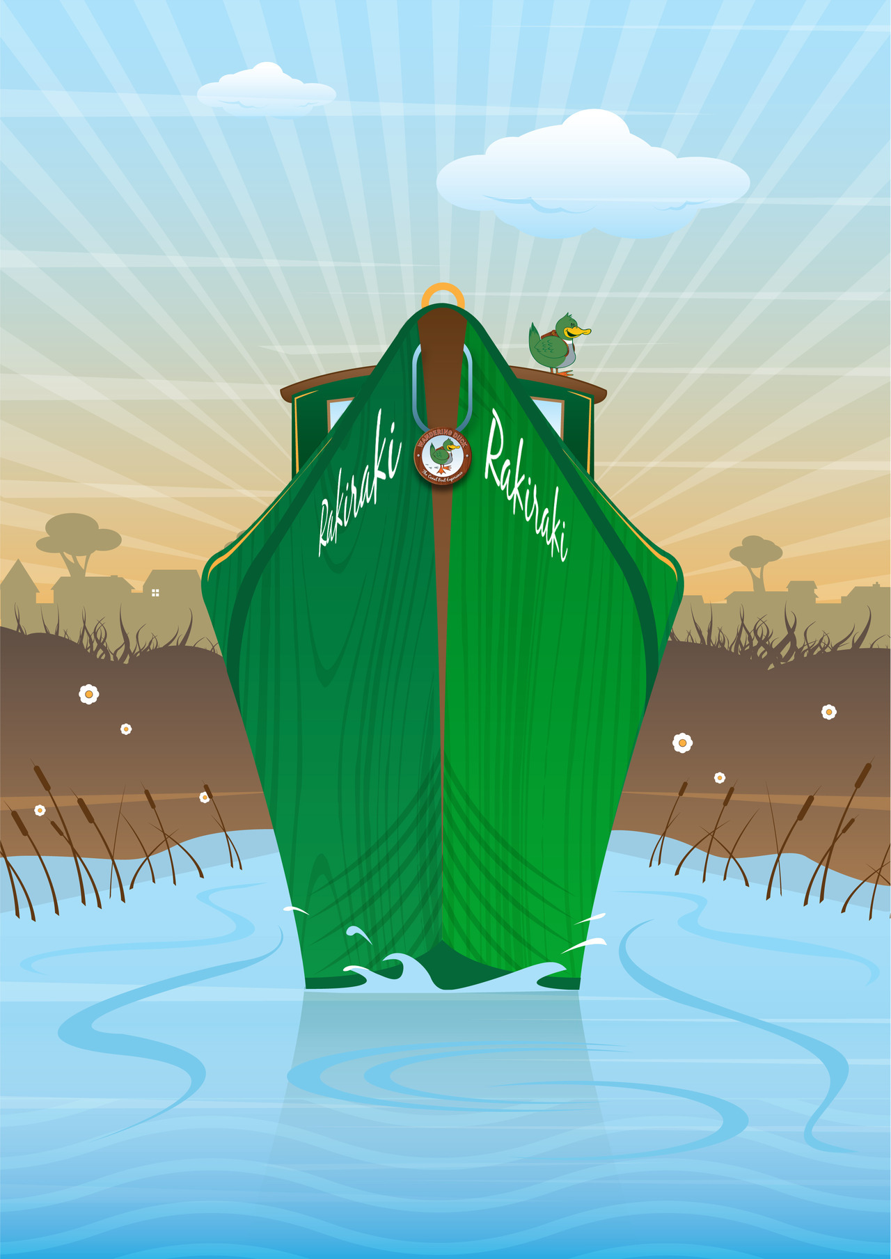 Just doodling today. An art deco style canal barge. Ask yourself why and please let me know cos I have no idea why :)