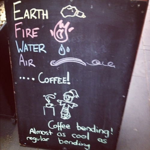 Earth, Fire, Water, Air, …coffee?