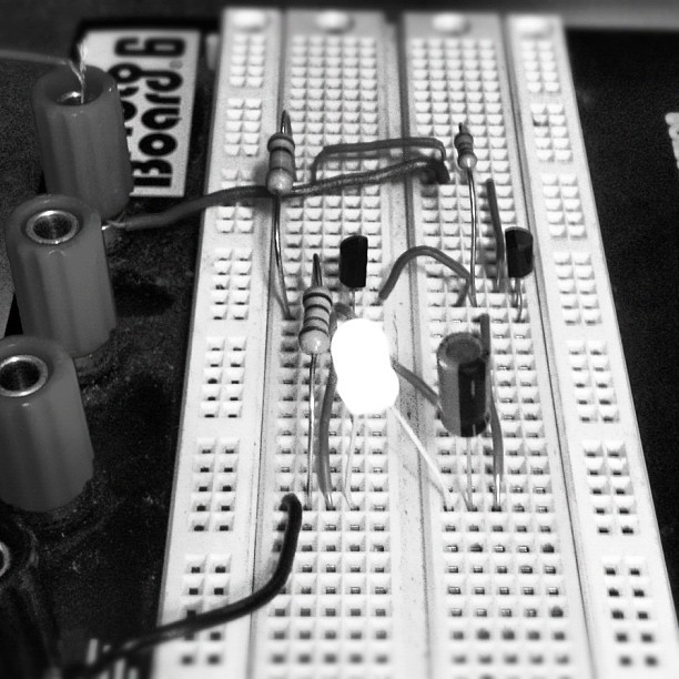 First ever successful #breadboard creation! (Taken with Instagram)