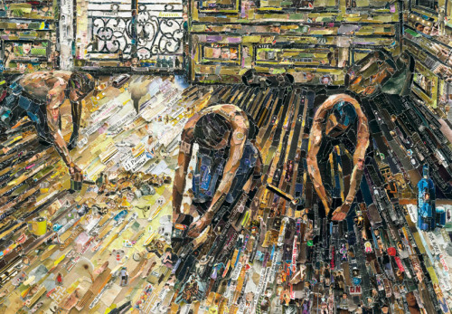 darksilenceinsuburbia:  Vik Muniz. Vik Muniz tears, blends and forms images out of magazines by replicating iconic famous paintings. The Brazilian artist entitles his series 'Pictures of Magazines 2′ based on artists such as Edouard Manet, Vincent Van Gogh, Paul Cezanne and other fore-fathers of art. Simply Brilliant. (by  okmarzo)