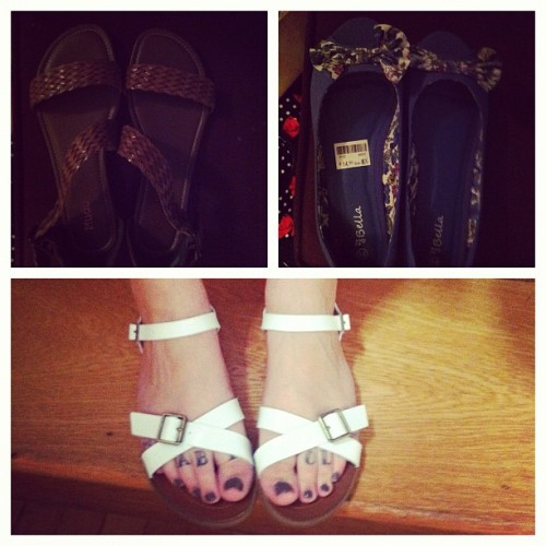 #bored #new #shoes #feet #toe #tattoos #summer #sandals (Taken with Instagram)